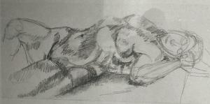 Zeichnung Akt weiblich  (02-01-2018)