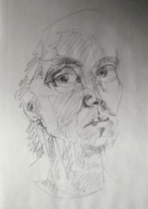 Zeichnung Portrait weiblich 02 (02-01-2018)